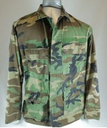 Vintage US MENS ARMY JACKET O.D Green Camouflage Field Fatigue Medium Re... - $24.74