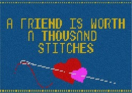 pepita Friends Stitches On Denim Needlepoint Kit - $84.00