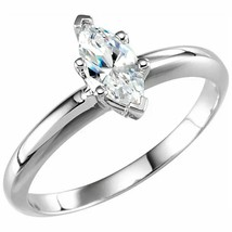 Marquise Diamond Engagement Ring 14K White Gold (1 Ct H Vvs2 Clarity) Gia - $4,547.27