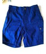 NEW DKNY Cargo Shorts Toddler12M Pockets w/snaps belt loops Navy 100% Co... - $9.74
