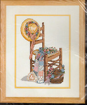Summer Dreams Cross Stitch Kit Bonnie Disotell Patches Straw Hat Bucilla USA  - $21.23