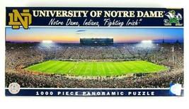 Notre Dame Fighting Irish Stadium Panoramic 1000 Piece Puzzle NCAA Footb... - $26.68