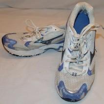 Mizuno White Blue Womens Athletic Shoes 8 Running Shoe - $27.93