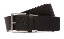 BRAND NEW LACOSTE MEN'S EMBOSSED LOGO PREMIUM CLASSIC LEATHER BELT BLACK RC1035