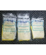 Three (3) pairs of Ansell #8986 Yellow Gloves For Housekeeping Use, Medi... - $9.79