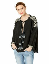 Pete & Greta By Johnny Was Women'S Gauze Blouse With Tassel Tie - $135.56+