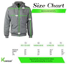 Men's Slim Fit Hoodie Warm Sherpa Lined Fleece Zip Up Heathered Sweater Jacket image 2