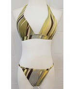 BCBG Max Azria Bikini Striped 2 Piece Bathing Suit size 4 Made in USA - $16.80