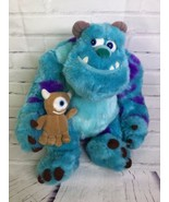 Disney Store Monsters Inc 12in Sulley Holiday Morning Plush Stuffed Anim... - $16.82