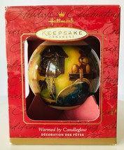 Hallmark Warmed by Candleglow Christmas Ornament 2000 Tracy Larson in Box - $8.27