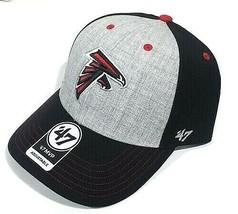 NFL Atlanta Falcons Hat MVP Adjustable Grey Team Logo Embroidered - $24.70