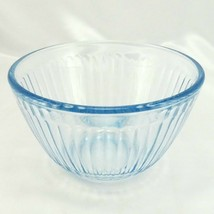 Pyrex 7401-S Ribbed Side Blue Aqua Tint Glass Serving Bowl 3 Cup - $16.95