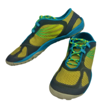 Merrell Womens Pace Glove 2 J48088 Gray Blue Lemon Lace Up Running Shoes Sz 8.5 - $40.17