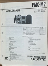 Sony  PMC-M2 Minidisc Stereo Service Manual *Original* - $18.53