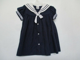 Starting Out Sz 24 Months Girl's 100% Cotton Navy Blue Short Sleeve Sail... - $20.00