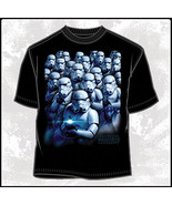 Star Wars Cool Blue Stormtroopers Body Print T-Shirt Size MD NEW UNWORN - $15.47