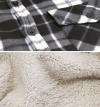 Men's Casual Flannel Button Up Plaid Fleece Warm Sherpa Lined Lightweight Jacket image 14