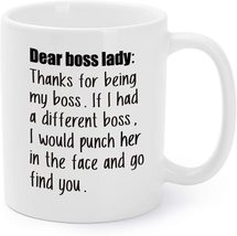 Boss's Day Gift Mugs Thanks For Being My Boss Coffee Cups - $15.95