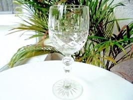 Bohemia Crystal #BOC 158 Clear Crystal Wine Goblet - $9.90