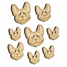 Frenchie French Bulldog Dog Head Wood Buttons for Sewing Knitting Croche... - $9.99