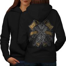 Lumberjack's Axe Sweatshirt Hoody Cool Women Hoodie Back - $21.99+