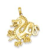 14K Solid Yellow Gold Dragon Pendant - $359.99