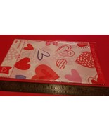 Home Holiday Table Cover 54 x 84 Valentine Red Heart White Tablecover Pl... - $0.94