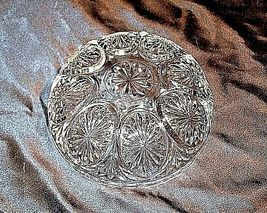 Cut Glass Bowl with Etched Design AA18-11903VintageHeavy image 3