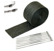 "BMW 1"" x 25' Motorcycle Protection Header Exhaust Heat Wrap black lava - $12.60"