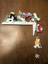 Avon Tumbling Snowman Corner Shelf Sitter Winter Decoration - $12.82