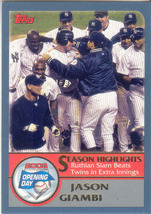 Jason Giambi ~ 2003 Topps Opening Day #163 ~ Yankees - $0.20