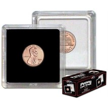(75) BCW (2 x 2) COIN SNAPS - PENNY - BLACK - $23.93