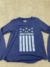 Under Armour Long Sleeve T-Shirt Women's Size Medium Blue - $28.59