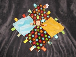 VGUC Taggies Mary Meyer Dazzle Dots Monkey Security Blanket Polka Dots Lovey - $14.84
