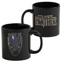 Black Panther Heat Reveal Coffee Mug Black - $18.98