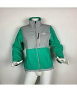 The North Face Denali Jacket Fleece Polartec Green Gray women Sz S - $55.00