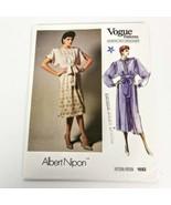 Vogue 1692 Albert Nipon Dress Size 8 American Designer Vintage Pattern U... - $19.99