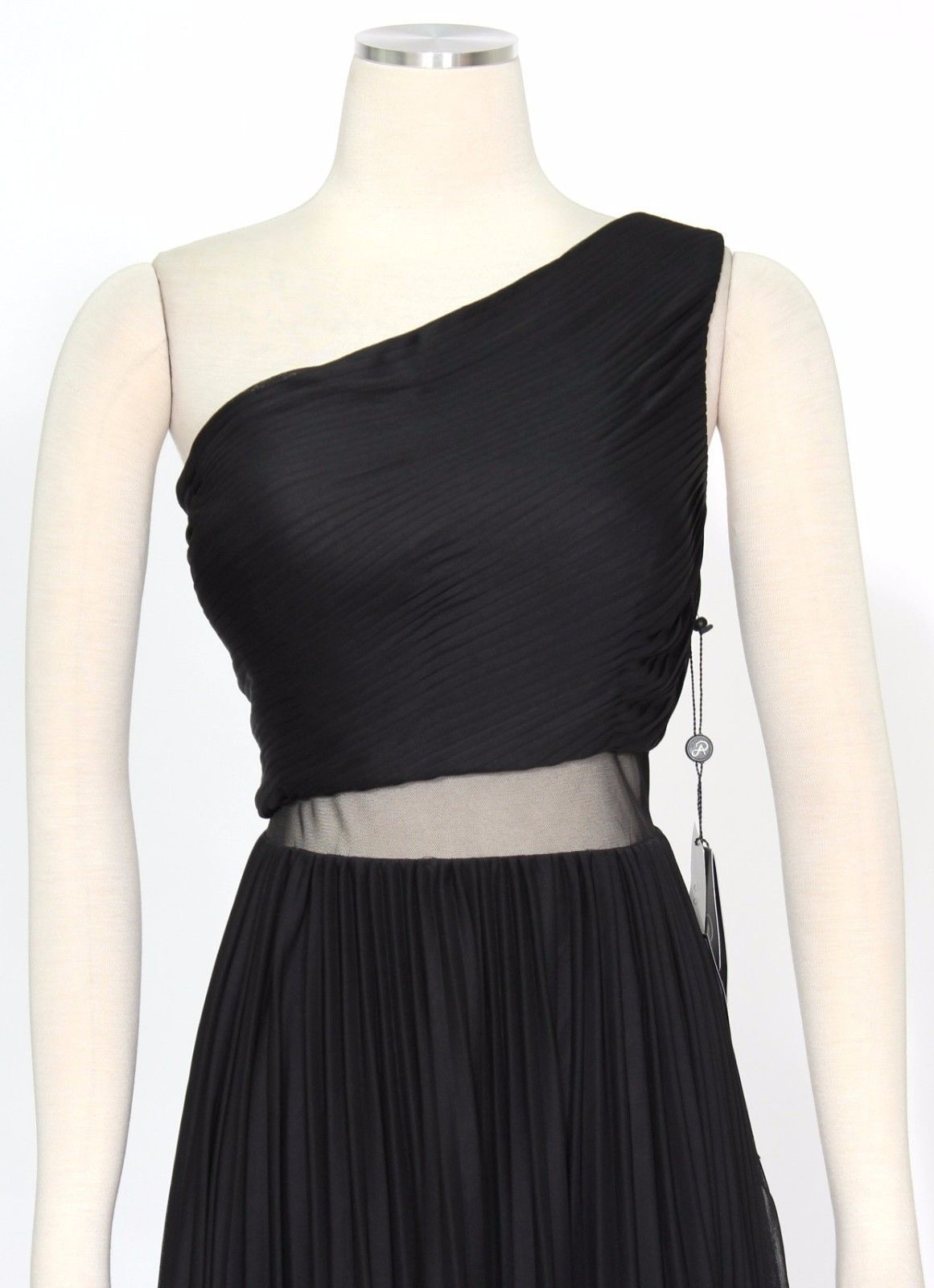 Adrianna Papell Womens Black Chiffon Pleated Party Dress 4