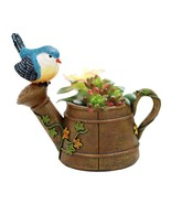 Flower Pot Resin Planter Bird Miniature Flowerpot Mini Birds Garden Home... - $12.19+