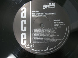 Little Richard His Greatest Recordings Ace CHA 109 Mono LP Record Album UK Press image 6