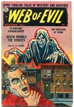 WEB OF EVIL #8 1953-QUALITY-PRE-CODE HORROR-JACK COLE-good- - $81.97