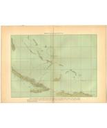 Map of Christopher Columbus Photogravure Antique Print 1903  - $79.00