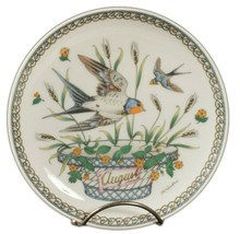 Hutschenreuther Plate August Birds Swallows 6.5 In Signed Ole Winther Ge... - $14.95