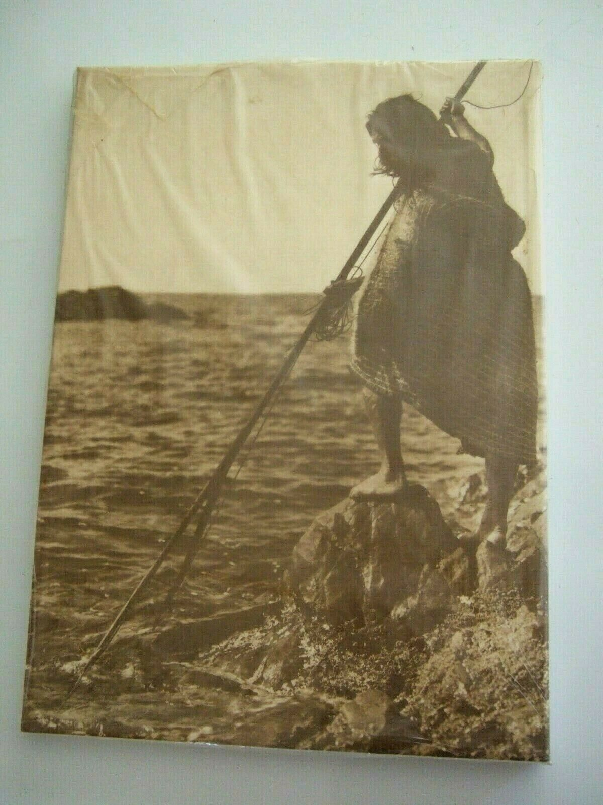 Primary image for EDWARD S CURTIS 1915 NOOTKA METHOD OF SPEARING PHOTOGRAPH ON CANVAS WOOD FRAME