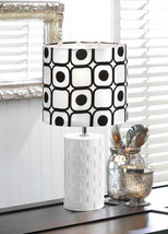 Bedside Table Lamp, Small Ceramic Modern Bedside Table Lamp White - $39.08