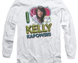 Kelly Kapowski Saved by the Bell t-shirt Retro 80's long sleeve T-shirt NBC144 image 2