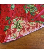 """Christmas Tablecloth 58"""" x 83"""" Holly Ivy Berries Red Green 100% Cotton R... - $14.84"""
