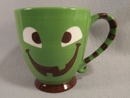 Starbucks 2007 Halloween Mug Green Brown Striped Happy Face 18 ounces - $24.74