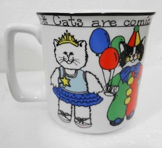 Susan Marie McChesney Enesco Mug Cats are Comical Comforting 14 oz 1982 - $28.08