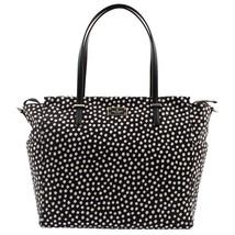 NWT KATE SPADE NEW YORK KAYLIE Baby Diaper Bag Blake Ave Polka Dots Blac... - £133.80 GBP